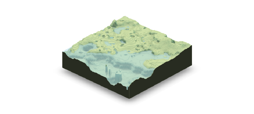 Rendered map